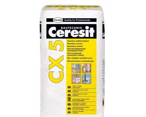 Быстротвердеющая монтажная смесь Ceresit CX 5, 2кг