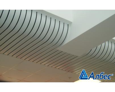 Реечные алюминиевые потолки Албес