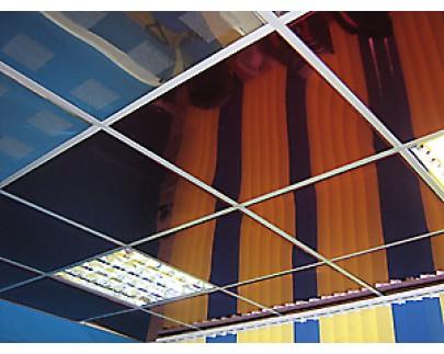 Кассетные алюминиевые потолки с открытой подвесной системой Албес