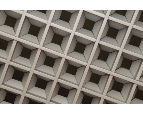 Потолок Грильято пирамидальный 200x200мм