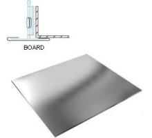 Кассетный потолок Албес AР600А6 Board металлик
