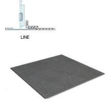 Кассетный потолок Албес AР600 Line металлик матовый перфорация 3.0