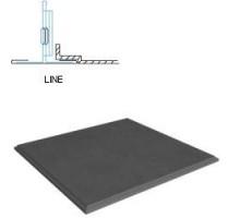 Кассетный потолок Албес АР600 Line металлик матовый