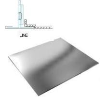 Кассетный потолок Албес АР600 Line металлик А907 ЭКОНОМ