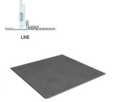 Кассетный потолок Албес AР600 Line металлик матовый перфорация 1.5
