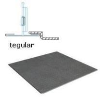 Кассетный потолок Албес AР600А6 Tegular металлик перфорация 1.5 (45º, Т-24)