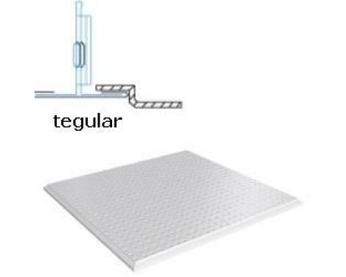 Кассетный потолок Албес АР600 Tegular белый матовый А902 перфорация 3.0 (45º, Т-24)