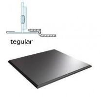 Кассетный потолок Албес AР600А6 Tegular супер-хром 741 ЭКОНОМ (45º/Т-24)