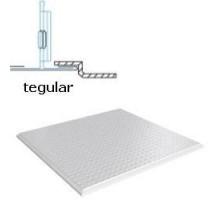Кассетный потолок Албес АР600 Tegular ЭКОНОМ белый матовый перфорация 1.5 (45º, Т-24)