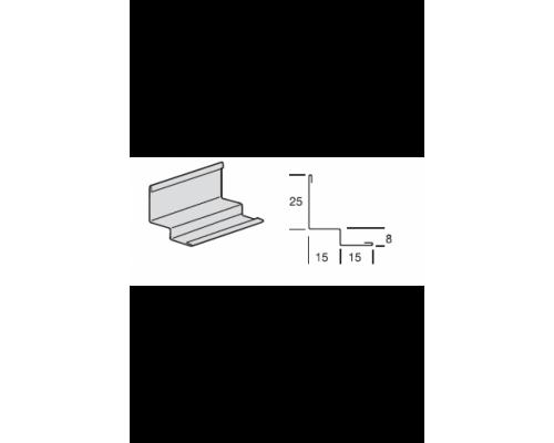 Уголок PLL А8 Албес белый стальной , L-3.0 м