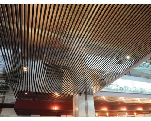 Кубообразный реечный потолок Албес A70S