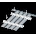 Реечный потолок прямоугольный дизайн A200АР Албес закрытого типа