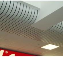 Радиусный реечный потолок Албес А84А