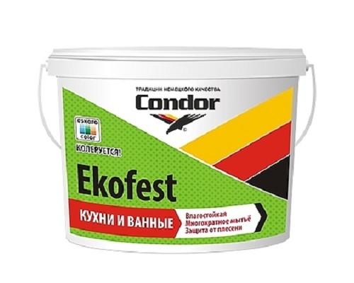 Краска для кухни и ванной Condor Ekofest 15 кг