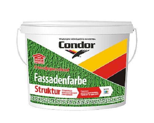 Структурная краска Condor Fassadenfarbe Struktur 9л (15 кг)