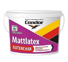 Краска латексная для стен и потолков Condor Mattlatex 22,5 кг