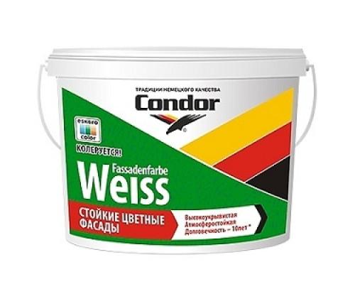 Стойкая краска для фасадов Condor Fassadenfarbe-Weiss 15л (22,5 кг)