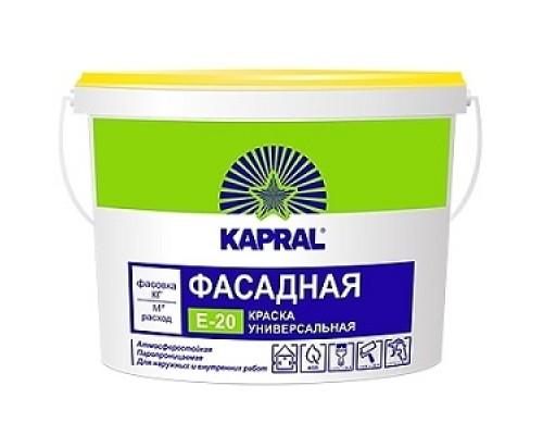Краска Kapral E20 (Капрал) фасадная 15кг (10л)