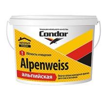 Краска моющаяся для стен и потолков Condor Alpenweiss, 15 кг